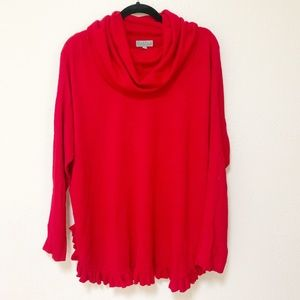 Joseph A | Red Tunic Sweater L